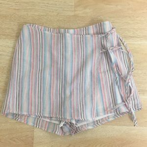 Cotton Candy LA Striped Skort